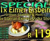 Special: German Eisbein & Russian Vodka