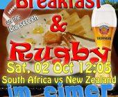Breakfast & Rugby on Saturday